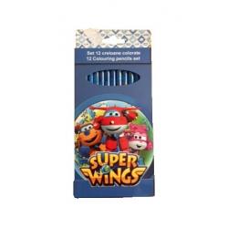 Set 10 creioane colorate Super Wings