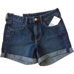 Pantaloni scurti denim, marimea 32, firma H&M